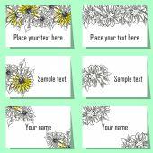 Blumenkarten-Hintergrund — Stockvektor