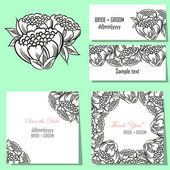 Set of invitation cards — Stock vektor