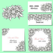 Set of invitation cards — Stock Vector