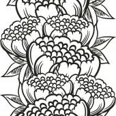 Floral pattern outline — Stock Vector