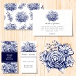Wedding invitation cards — Stock Vector #64105477