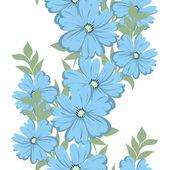 花の背景とのシームレスなパターン — ストックベクタ