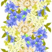 Patrones sin fisuras con fondo floral — Vector de stock