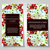 Invitations with floral background — Stockvektor