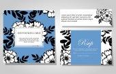 Ensemble d'invitations florales — Vecteur