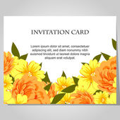 Beautiful invitation card — Cтоковый вектор