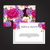 Wedding invitation card — Vecteur