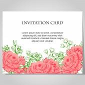 美しい招待状カード — ストックベクタ