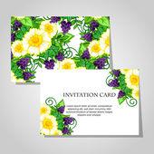 Beautiful invitation card — Vecteur