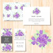 Wedding invitation cards — Vecteur