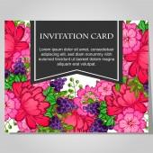 Piękne zaproszenia karty — Wektor stockowy