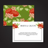 Wedding invitation card — Stock vektor