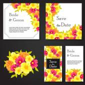 Wedding invitation cards — ストックベクタ