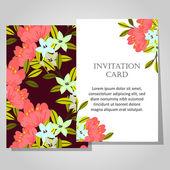 Beautiful invitation card — Stockvector