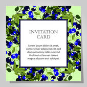 Carte d'invitation belle — Vecteur