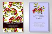 Προσκλήσεις με floral φόντο — Διανυσματικό Αρχείο