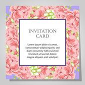 Beautiful invitation card — Stock Vector