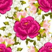 çiçek arka plan ile seamless modeli — Stok Vektör