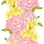 Seamless mönster med blommig bakgrund — Stockvektor