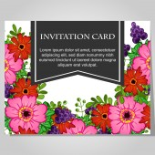 Cartão do convite lindo — Vetor de Stock