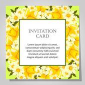 Mooie uitnodigingskaart — Stockvector