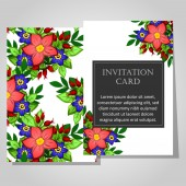 Beautiful invitation card — Stock Vector