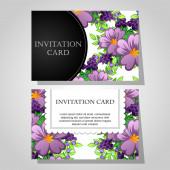 Schöne einladungskarte — Stockvektor
