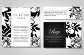 Hochzeit einladungskarten — Stockvektor