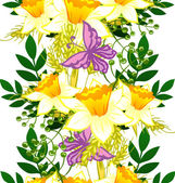 Abstract pattern with floral background — Vetor de Stock