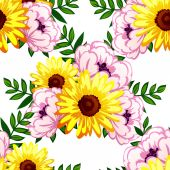 Abstract pattern with floral background — Stok Vektör