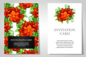 Invitations with floral background — Stockvector
