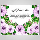 Düğün davetiye kartı — Stok Vektör