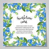 Wedding invitation card — Vetor de Stock