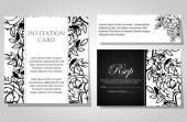 Wedding invitation cards — Vettoriale Stock