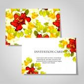 Krásné pozvánky — Stock vektor