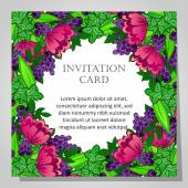 Carte d'invitation belle — Vecteur
