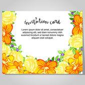 Tarjeta de invitación de boda — Vector de stock