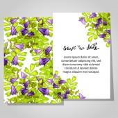 Wedding invitation card — Stockvector