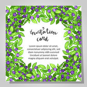 Carte d'invitation de mariage — Vecteur