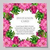 Vackra inbjudningskort — Stockvektor