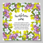 Bruiloft uitnodigingskaart — Stockvector