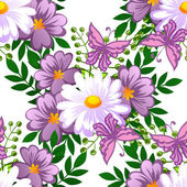 Abstract pattern with floral background — Stockvektor