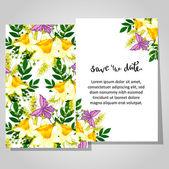 Wedding invitation card — Stock vektor