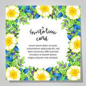 結婚式の招待カード — ストックベクタ