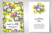 Wedding invitation cards — Vecteur