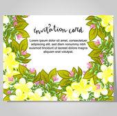 свадебный пригласительный билет — Cтоковый вектор