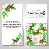 Bröllop inbjudningskort — Stockvektor