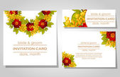 Wedding invitation cards — Stockvector