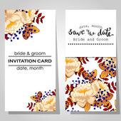 Wedding invitation cards — Stockvektor
