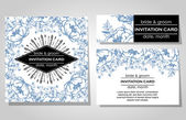 Wedding invitation cards — Stock Vector
